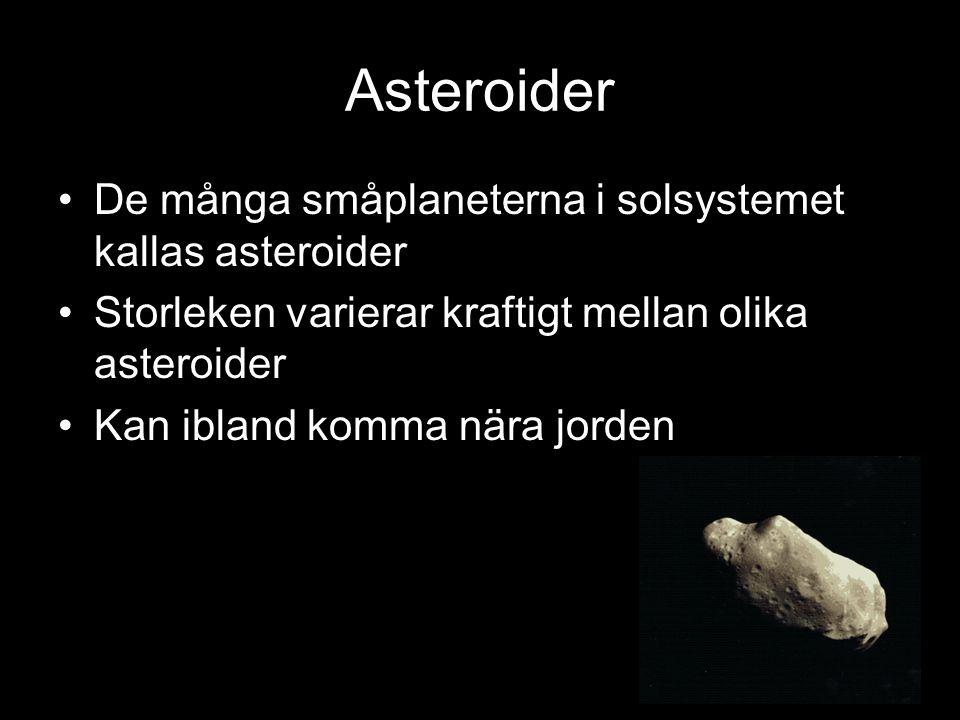Asteroider De många småplaneterna i solsystemet kallas asteroider