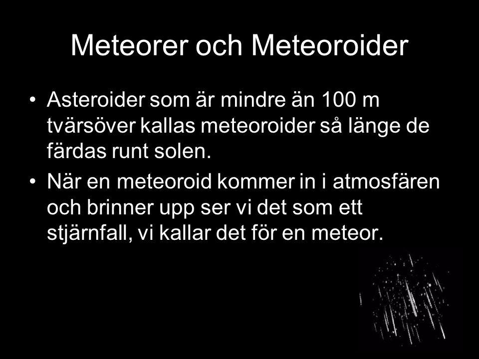 Meteorer och Meteoroider