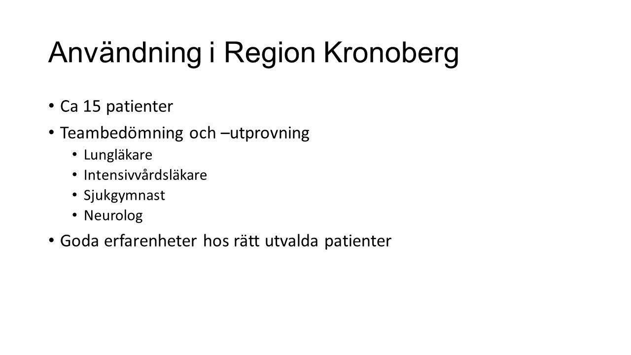 Användning i Region Kronoberg
