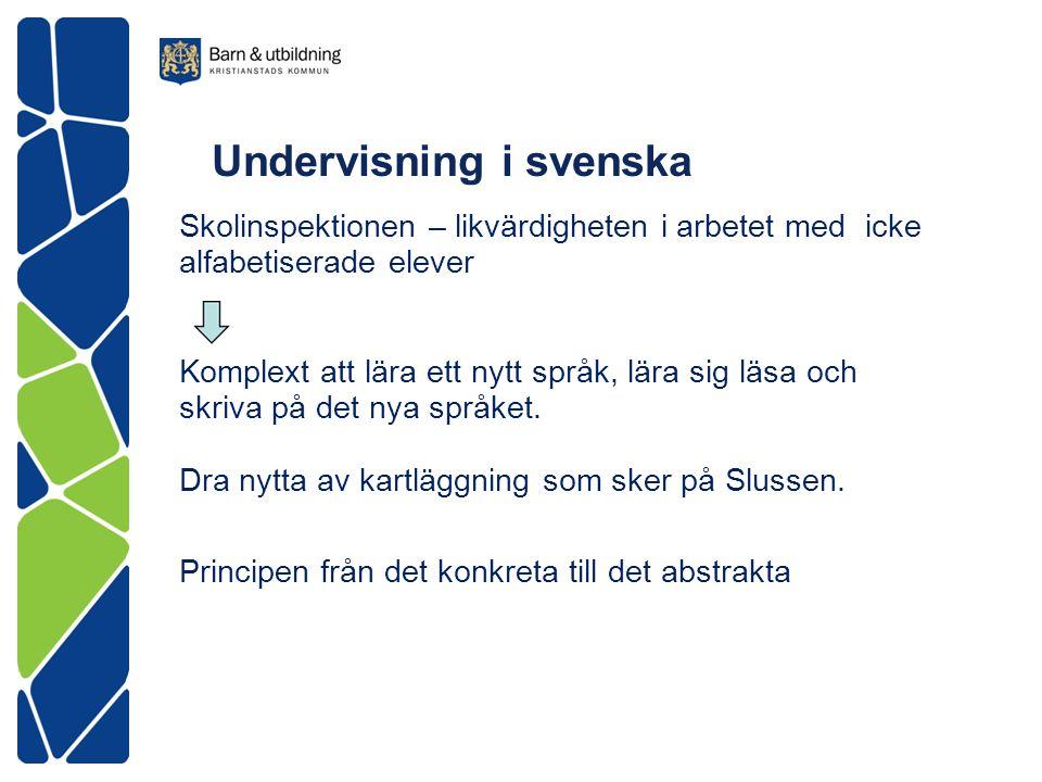 Undervisning i svenska