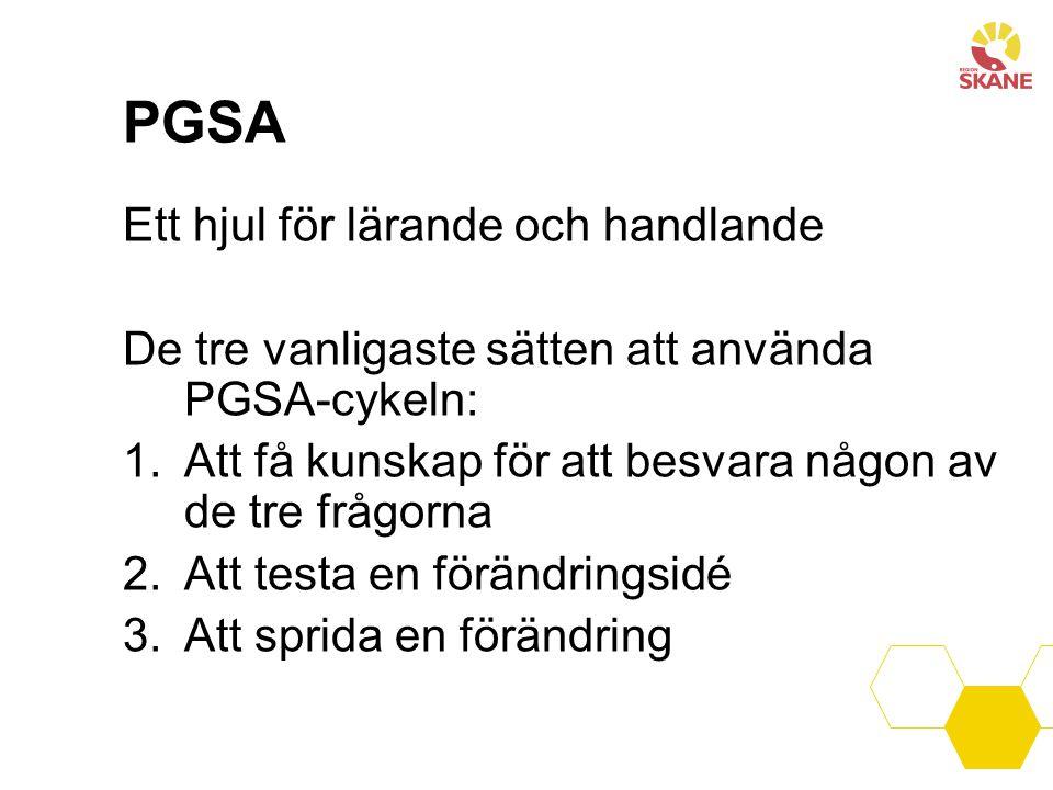 PGSA Ett hjul för lärande och handlande