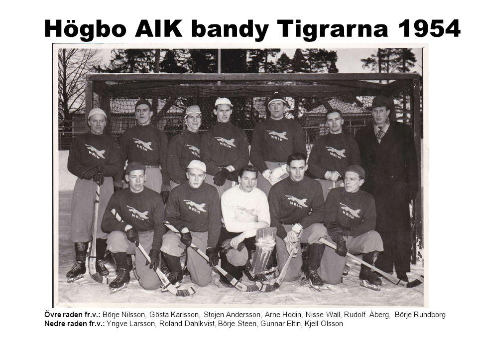 Högbo AIK bandy Tigrarna 1954