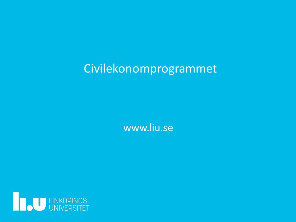 Civilekonomprogrammet