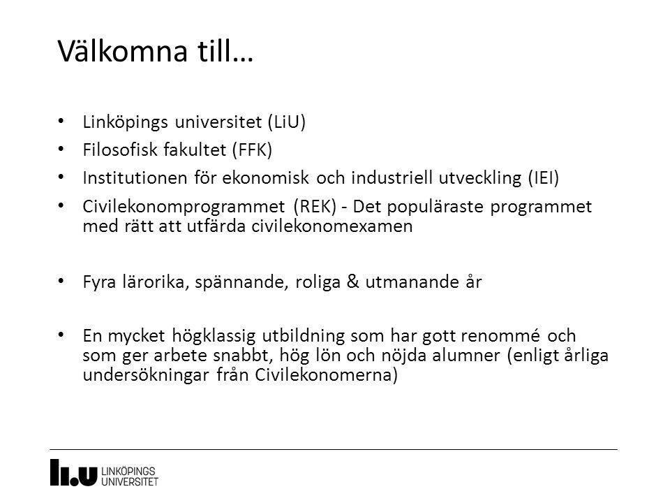 Välkomna till… Linköpings universitet (LiU) Filosofisk fakultet (FFK)