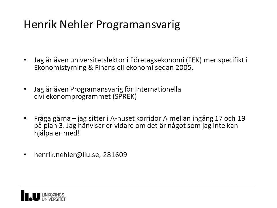 Henrik Nehler Programansvarig