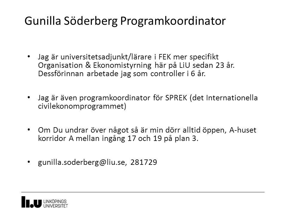 Gunilla Söderberg Programkoordinator