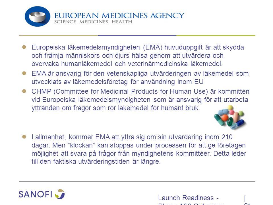 Europeiska läkemedelsmyndigheten (EMA) huvuduppgift är att skydda och främja människors och djurs hälsa genom att utvärdera och övervaka humanläkemedel och veterinärmedicinska läkemedel.