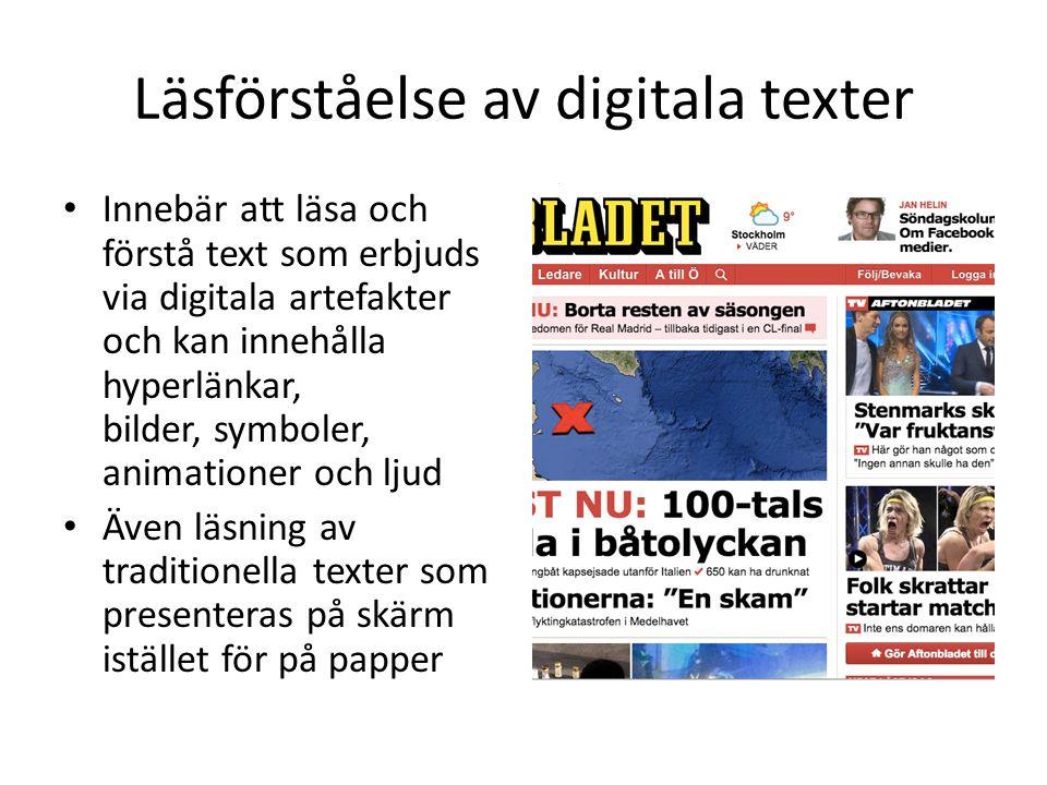 Läsförståelse av digitala texter