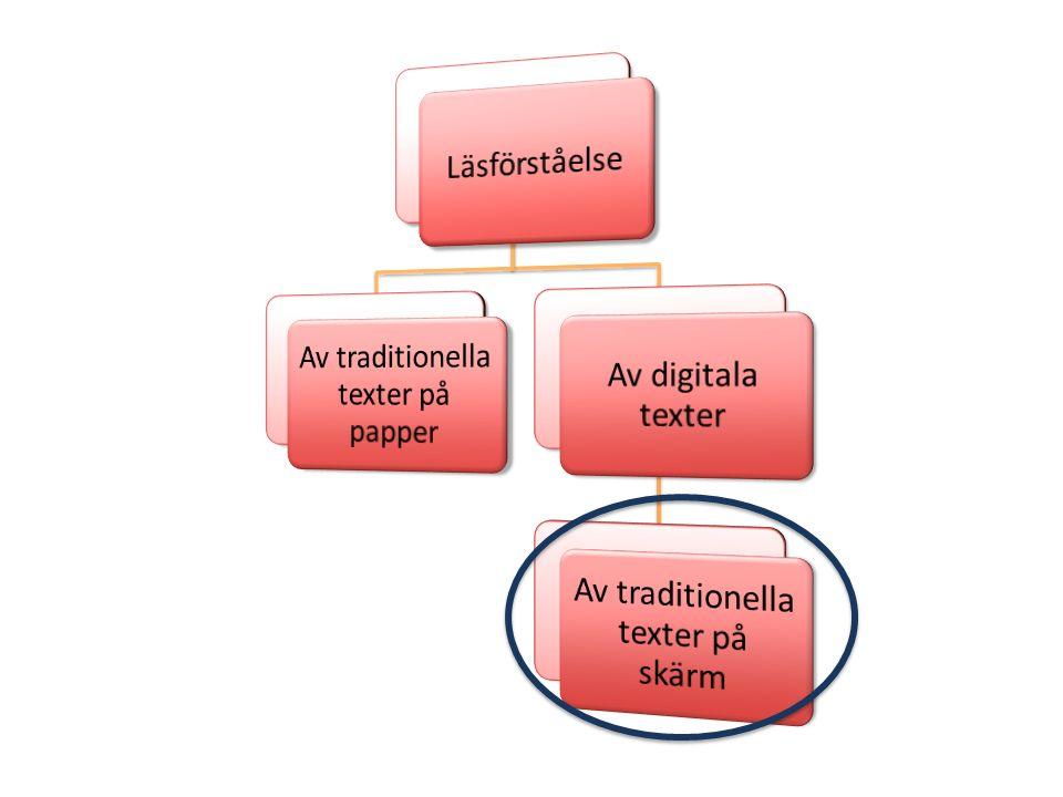Av traditionella texter på papper Av digitala texter