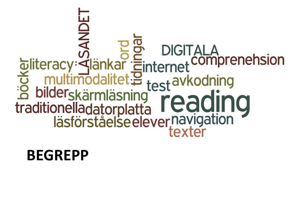 Jag kommer att gå igenom hur jag använde begreppet läsförståelse, i allmänhet och i relation till traditionella och digitala texter.