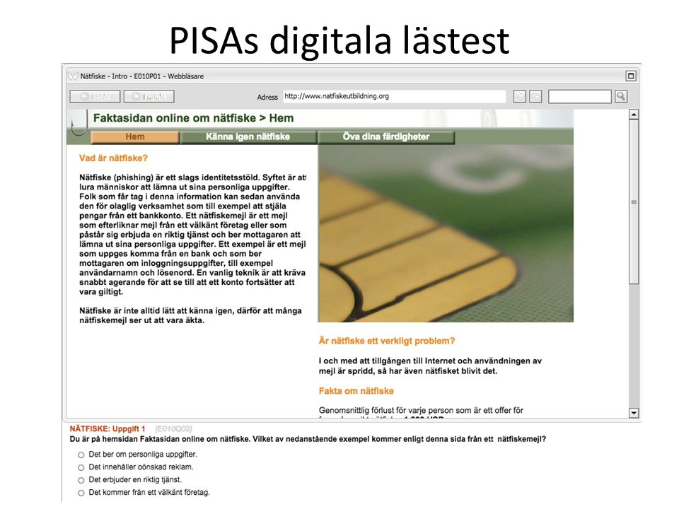PISAs digitala lästest