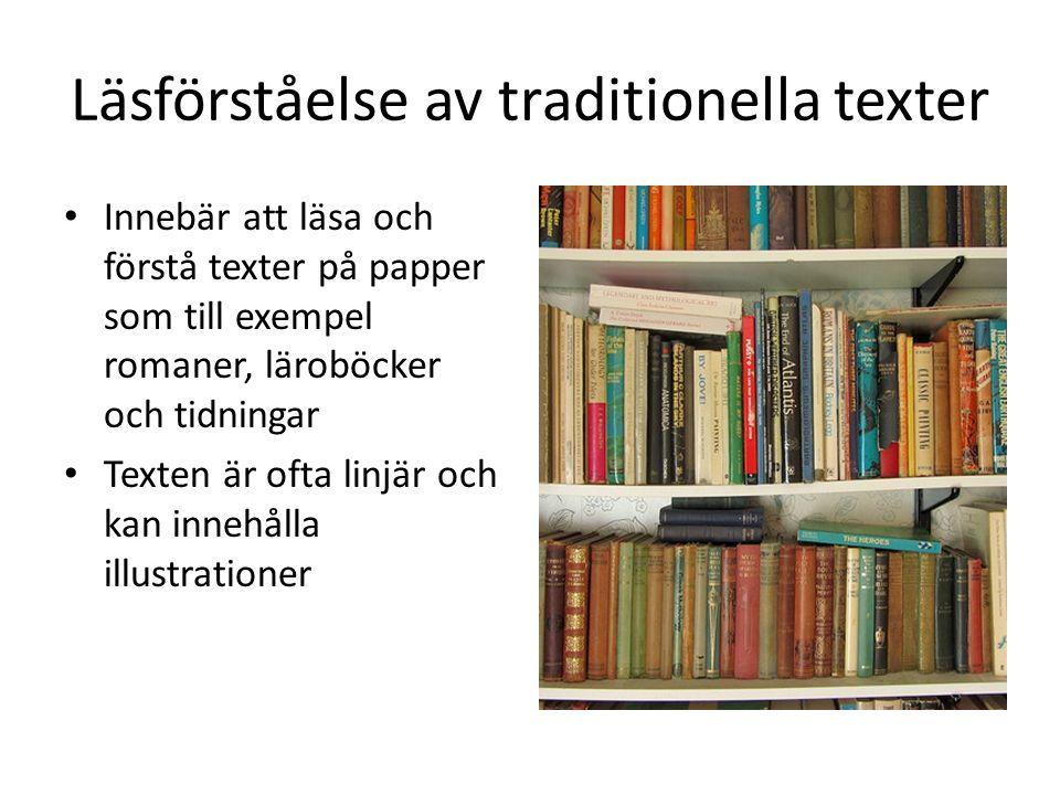 Läsförståelse av traditionella texter