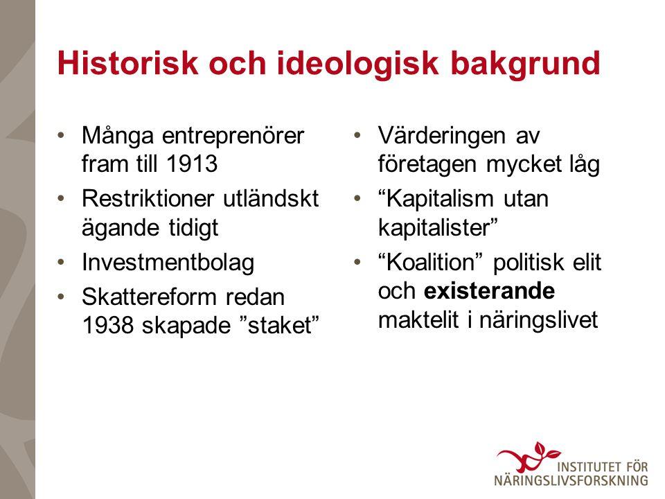 Historisk och ideologisk bakgrund