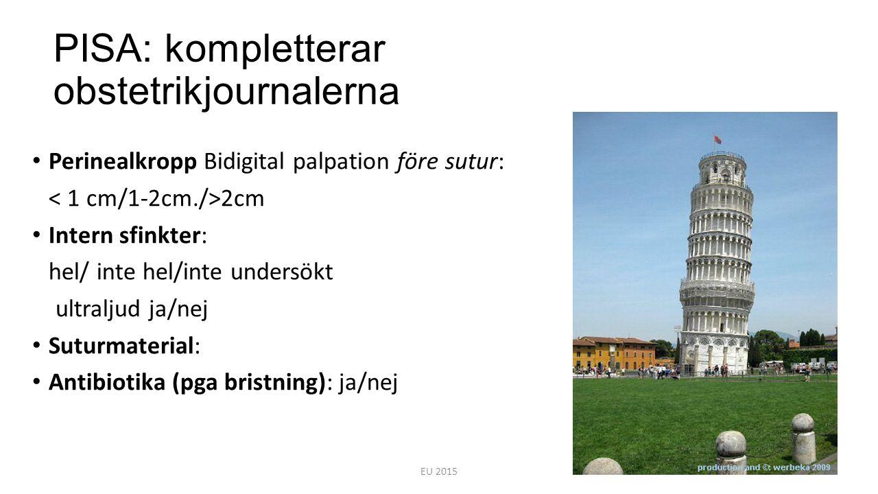 PISA: kompletterar obstetrikjournalerna