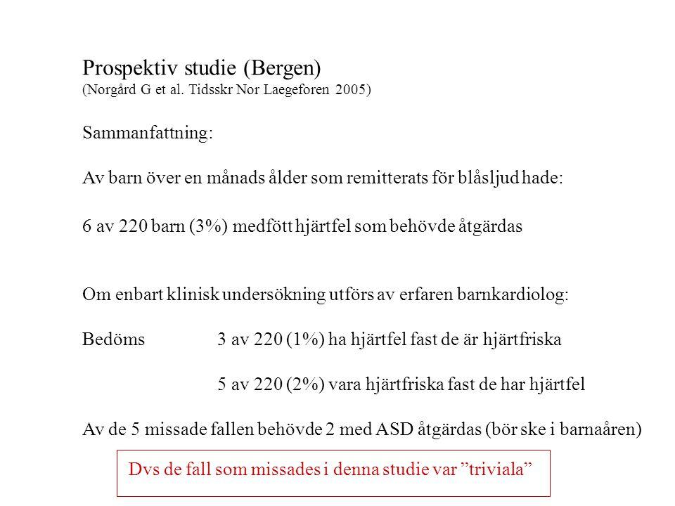 Prospektiv studie (Bergen)