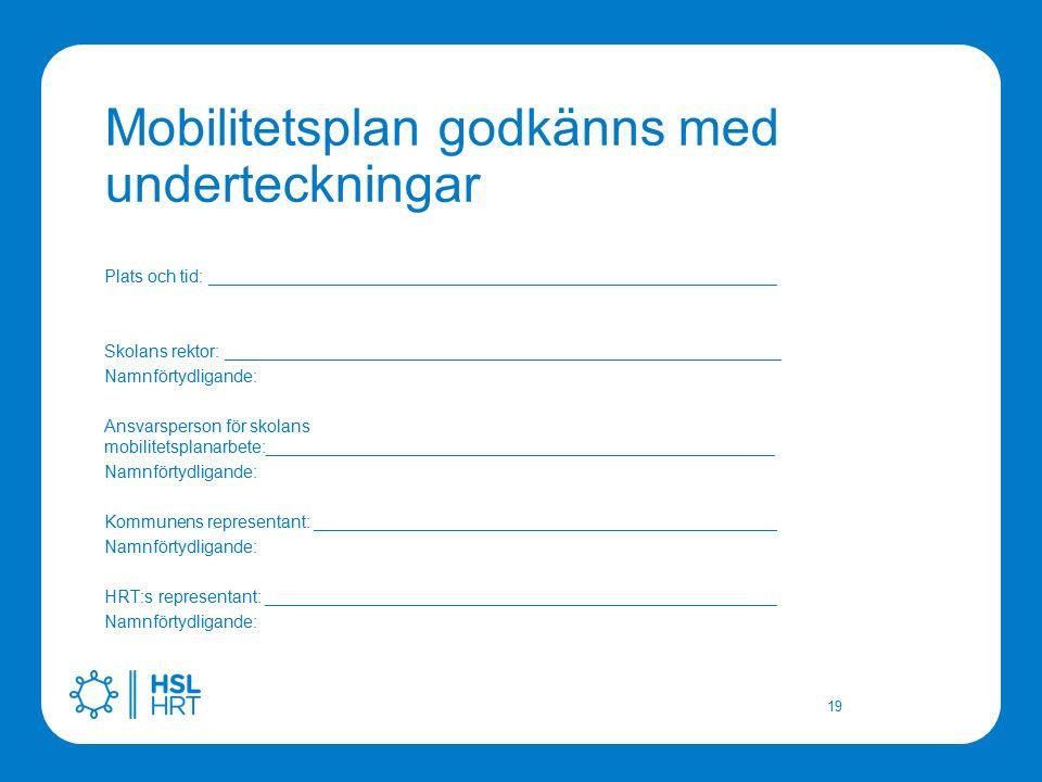 Mobilitetsplan godkänns med underteckningar