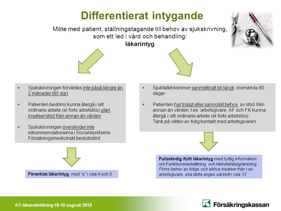 Differentierat intygande