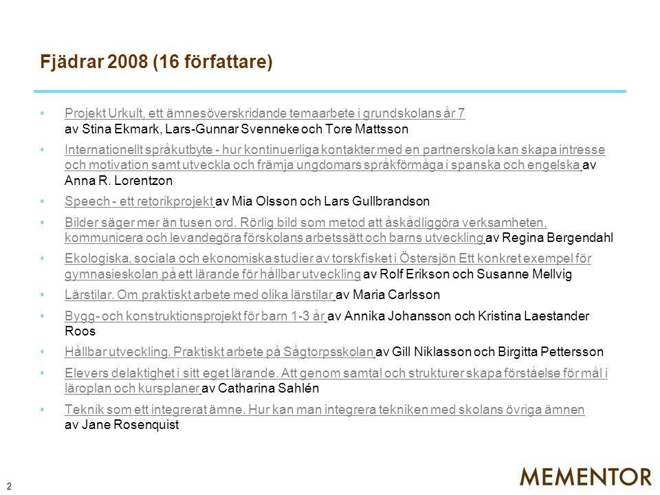 Fjädrar 2008 (16 författare)