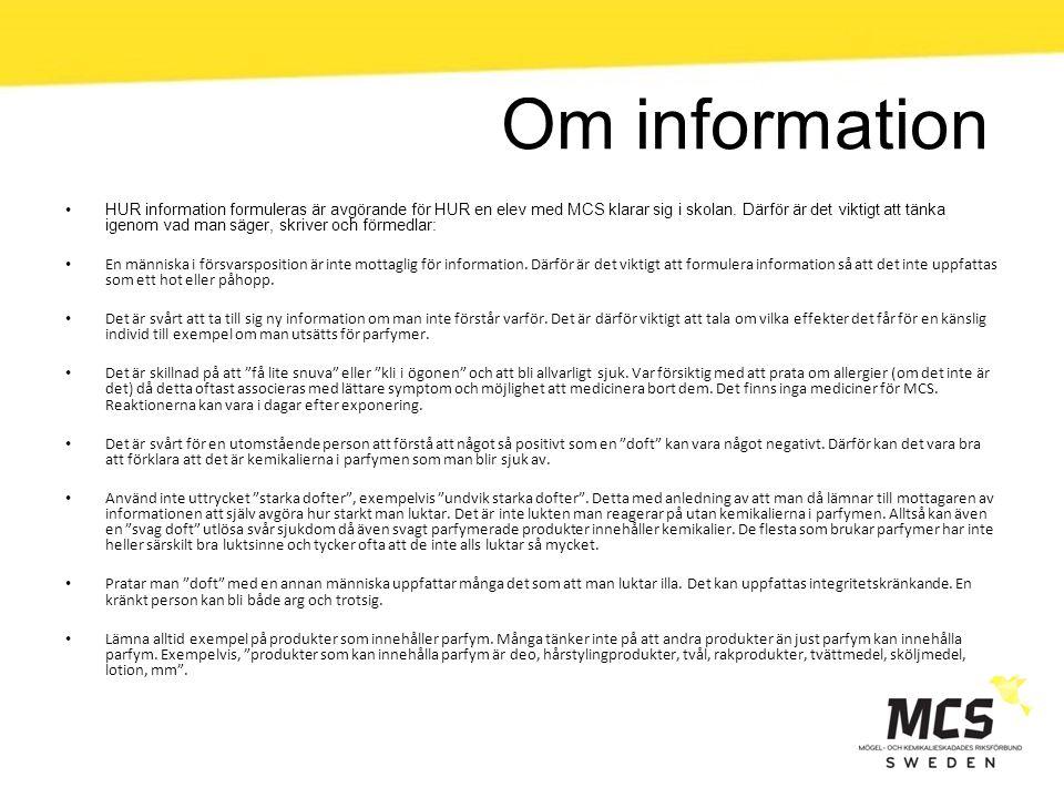 Om information