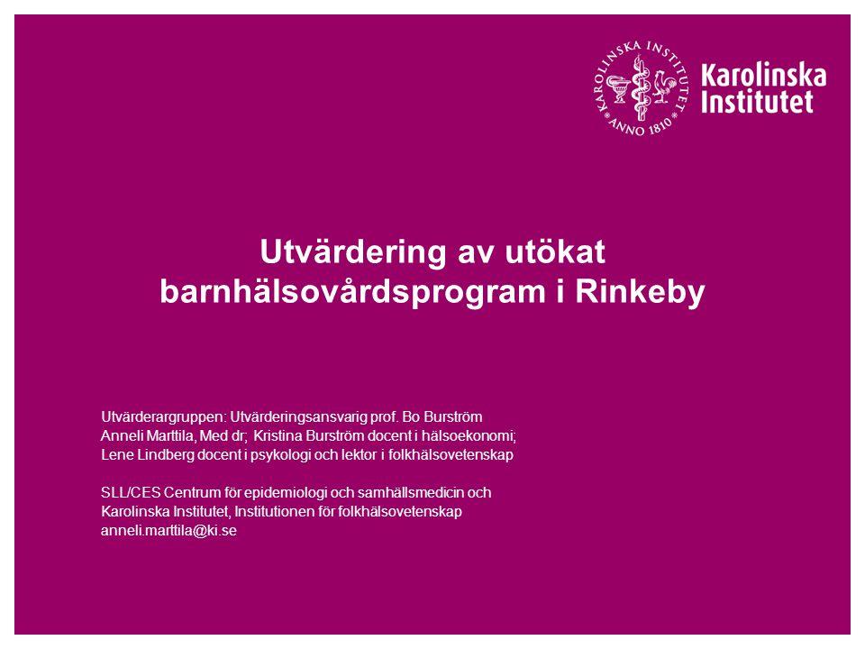 Utvärdering av utökat barnhälsovårdsprogram i Rinkeby