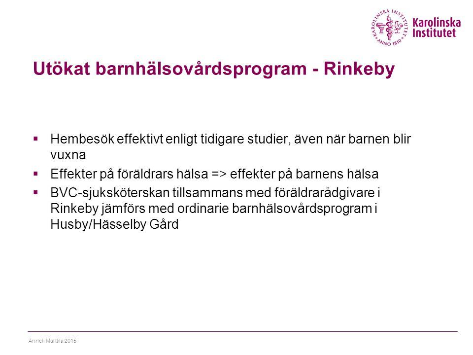 Utökat barnhälsovårdsprogram - Rinkeby