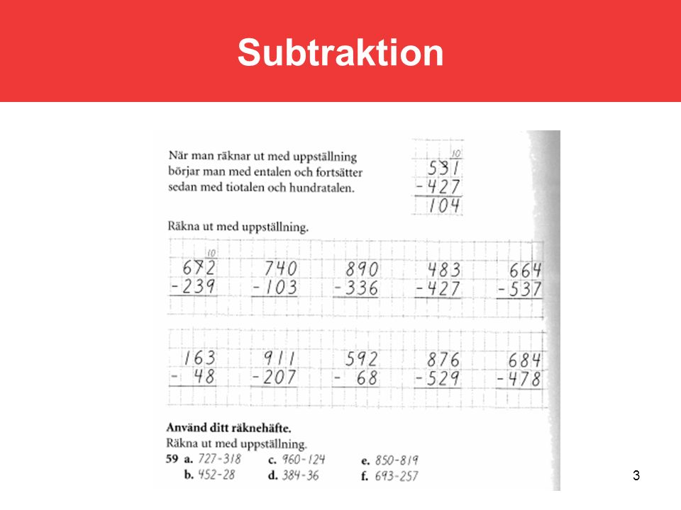 Subtraktion