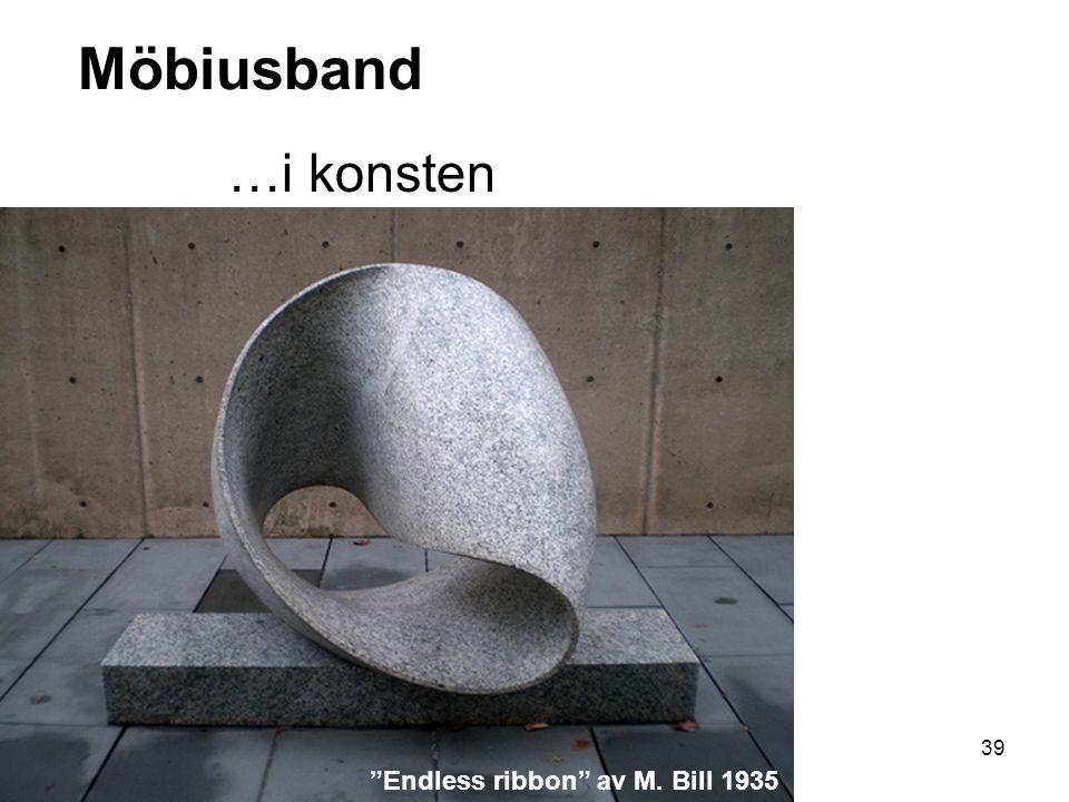 Möbiusband …i konsten Endless ribbon av M. Bill 1935