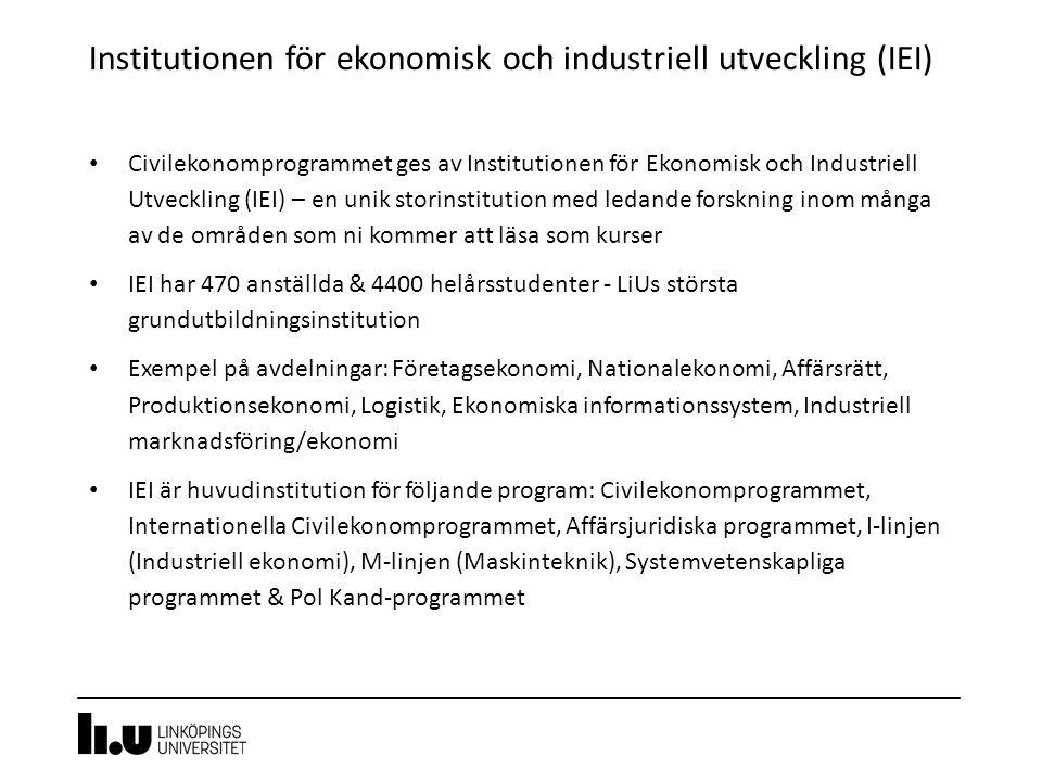 Institutionen för ekonomisk och industriell utveckling (IEI)