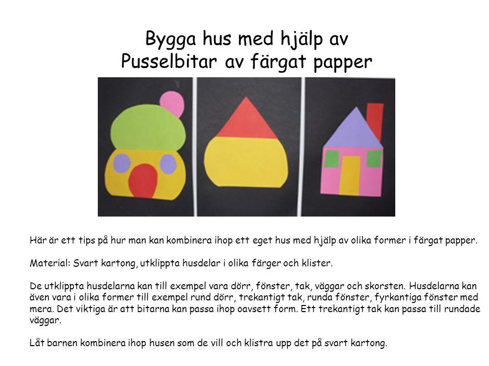 Pusselbitar av färgat papper