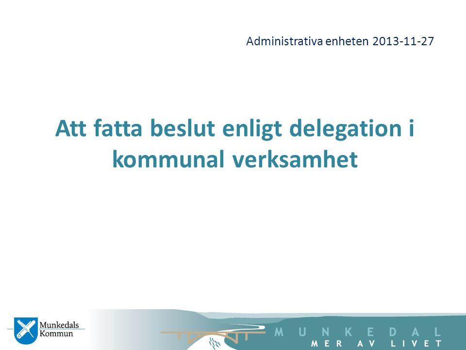 Administrativa enheten 2013-11-27
