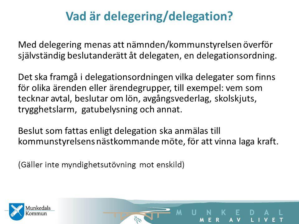 Vad är delegering/delegation