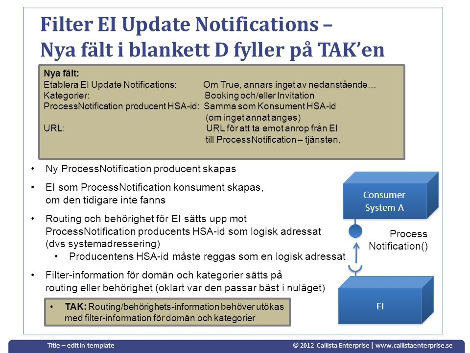 Filter EI Update Notifications – Nya fält i blankett D fyller på TAK'en