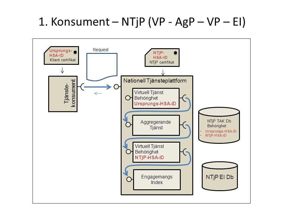 1. Konsument – NTjP (VP - AgP – VP – EI)