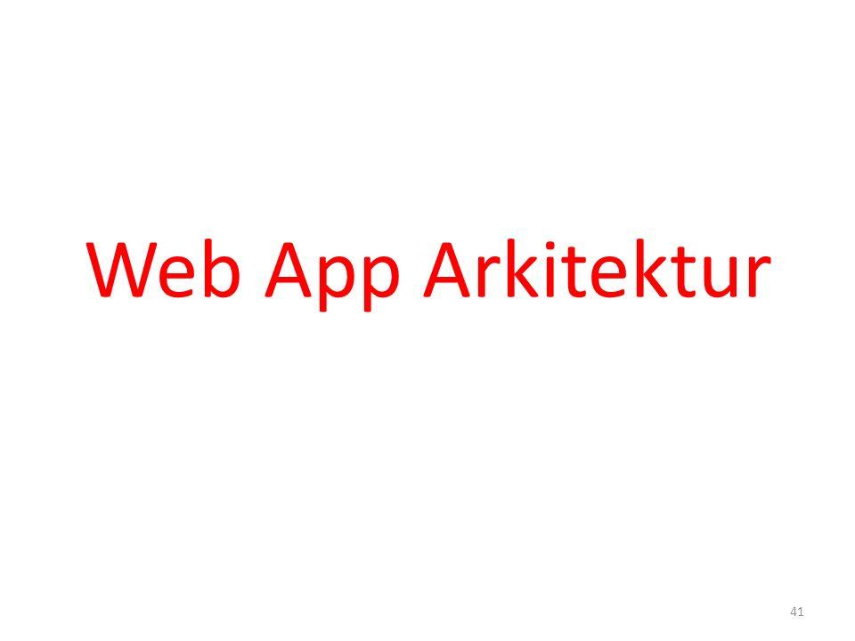 Web App Arkitektur