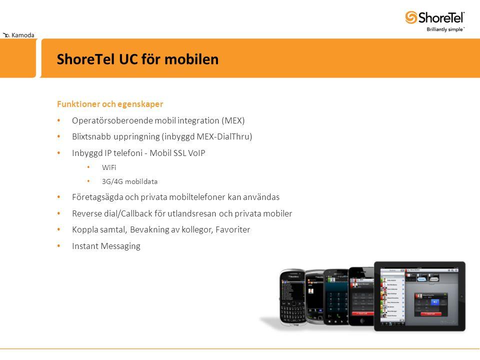 ShoreTel UC för mobilen godbitar