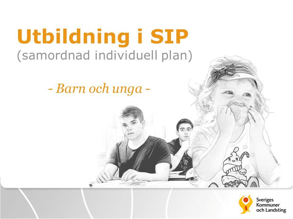 Utbildning i SIP (samordnad individuell plan)
