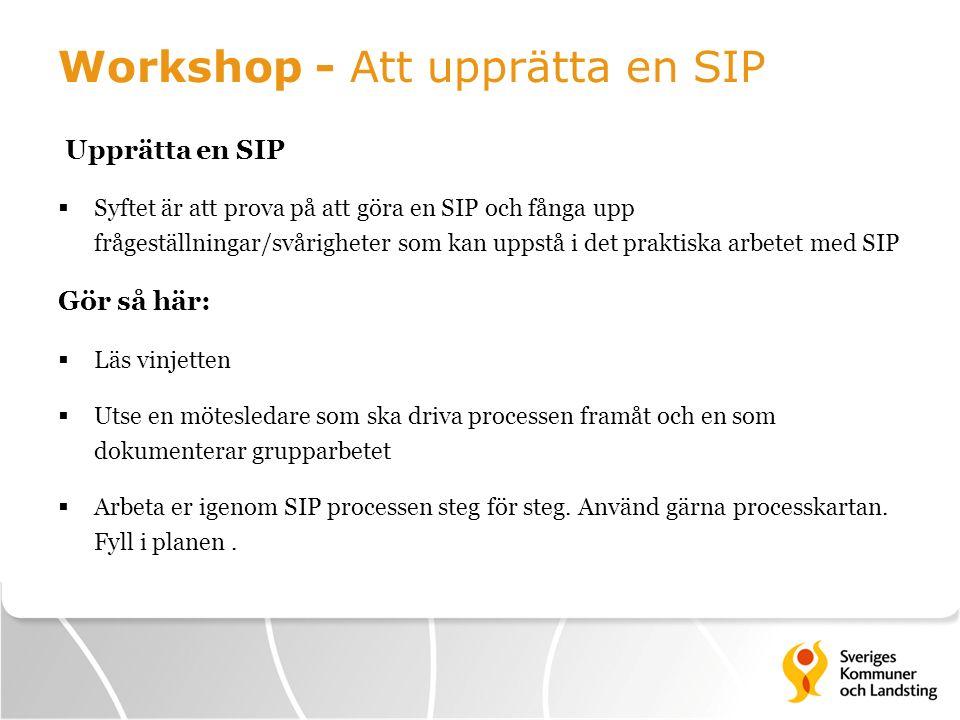 Workshop - Att upprätta en SIP