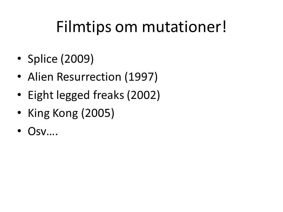Filmtips om mutationer!
