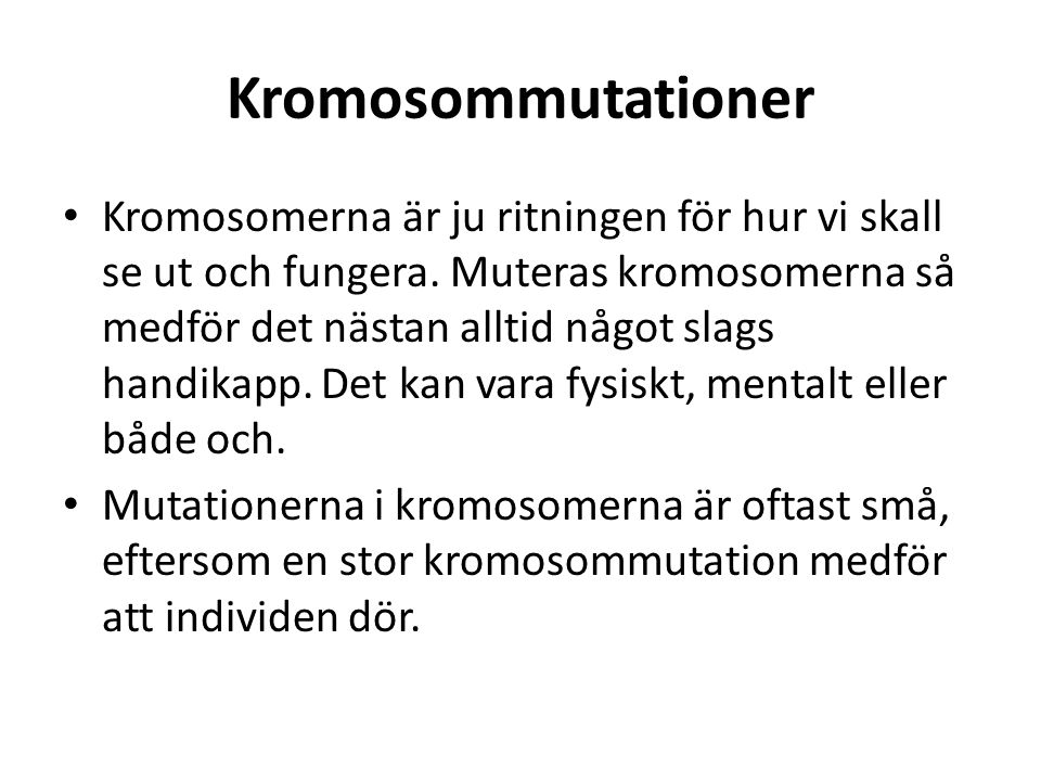 Kromosommutationer