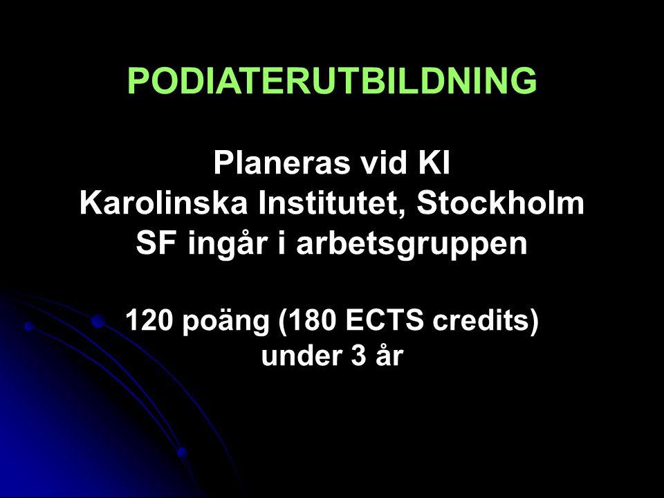 Karolinska Institutet, Stockholm SF ingår i arbetsgruppen
