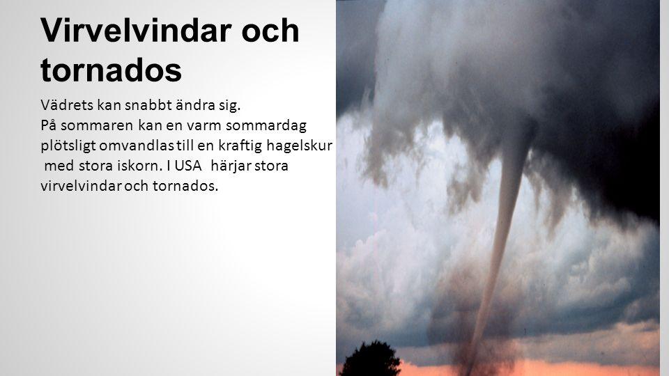 Virvelvindar och tornados