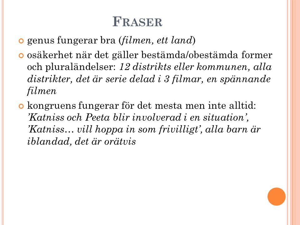Fraser genus fungerar bra (filmen, ett land)