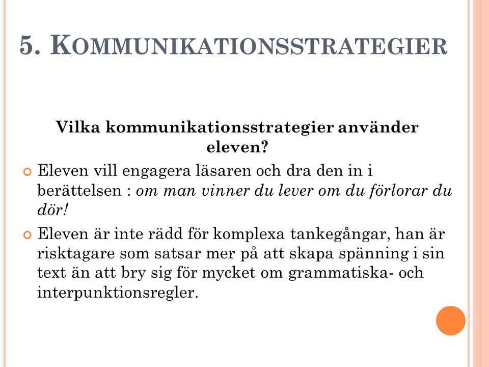 5. Kommunikationsstrategier