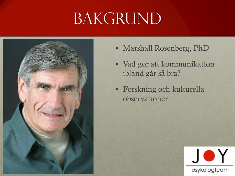 Bakgrund Marshall Rosenberg, PhD