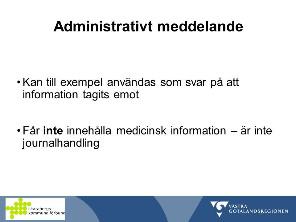 Administrativt meddelande
