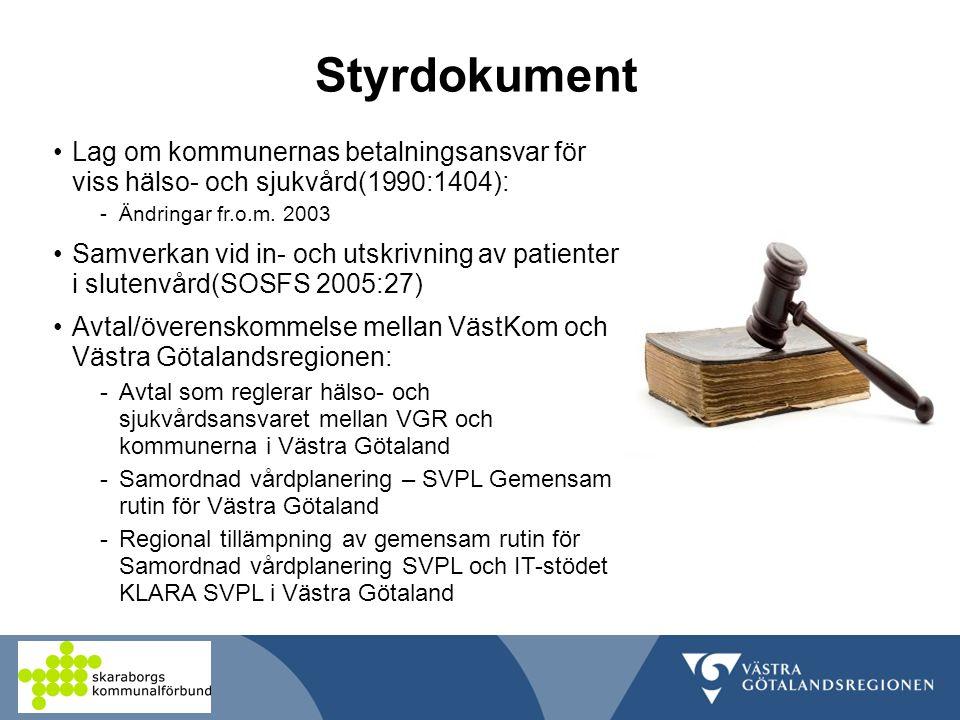 Styrdokument Lag om kommunernas betalningsansvar för viss hälso- och sjukvård(1990:1404): Ändringar fr.o.m. 2003.