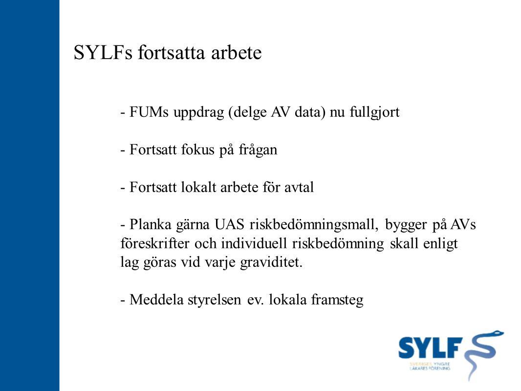 SYLFs fortsatta arbete