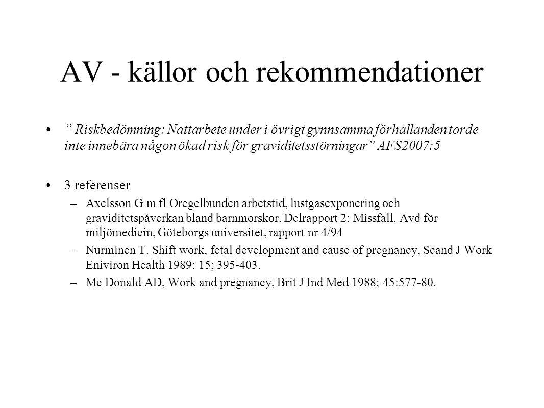 AV - källor och rekommendationer