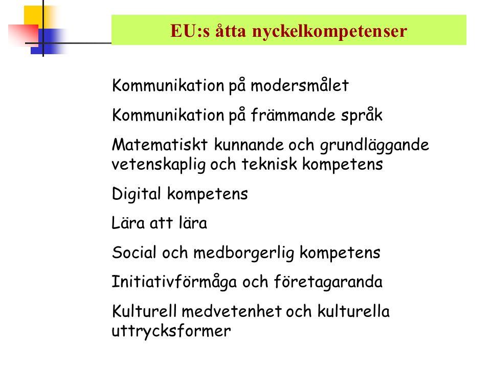 EU:s åtta nyckelkompetenser