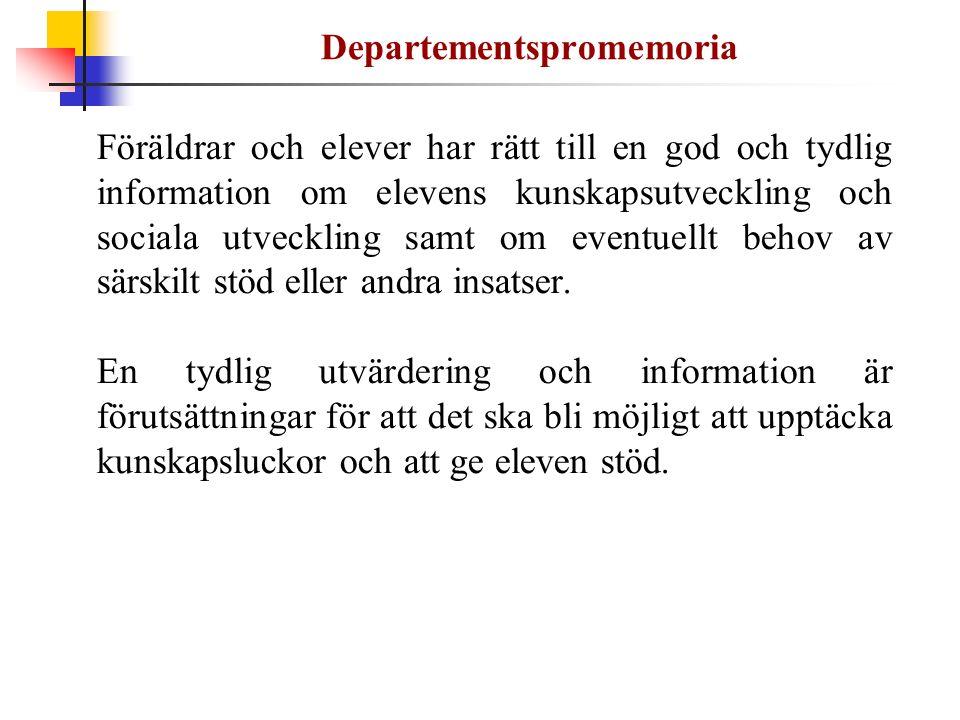 Departementspromemoria